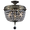 """Picture of 20"""" 3 Light Bowl Flush Mount with Antique Brass finish"""