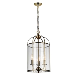 """20"""" 3 Light Up Chandelier with Antique Bronze finish"""