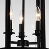 """Picture of 20"""" 3 Light Up Chandelier with Black finish"""