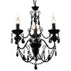 "Picture of 20"" 3 Light Up Chandelier with Black finish"