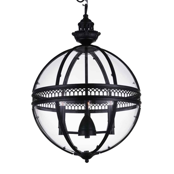 "Picture of 20"" 3 Light Up Mini Pendant with Black finish"