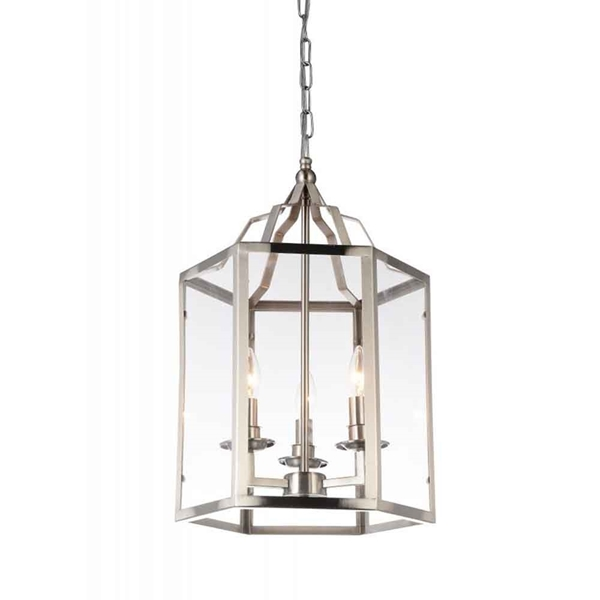 "Picture of 20"" 3 Light Up Mini Pendant with Satin Nickel finish"
