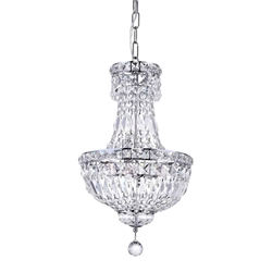 "20"" 4 Light  Mini Chandelier with Chrome finish"
