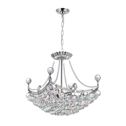 "20"" 4 Light Down Chandelier with Chrome finish"