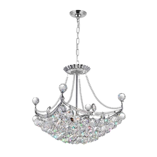"Picture of 20"" 4 Light Down Chandelier with Chrome finish"