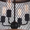 "Picture of 20"" 4 Light Drum Shade Chandelier with Black finish"