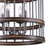 "Picture of 20"" 4 Light Drum Shade Chandelier with Gun Metal finish"