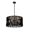 "Picture of 20"" 4 Light Up Chandelier with Black finish"
