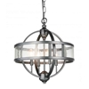"""Picture of 20"""" 4 Light Up Chandelier with Gray finish"""