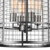 "Picture of 20"" 4 Light Up Chandelier with Pewter finish"