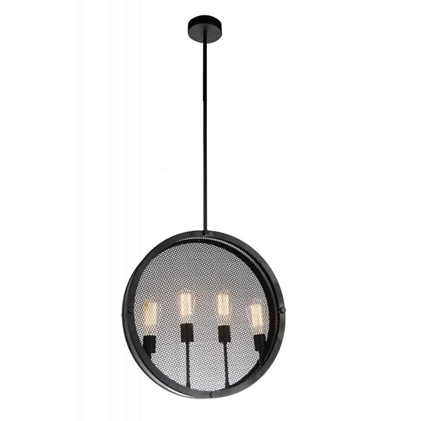 "Picture of 20"" 4 Light Up Pendant with Black finish"