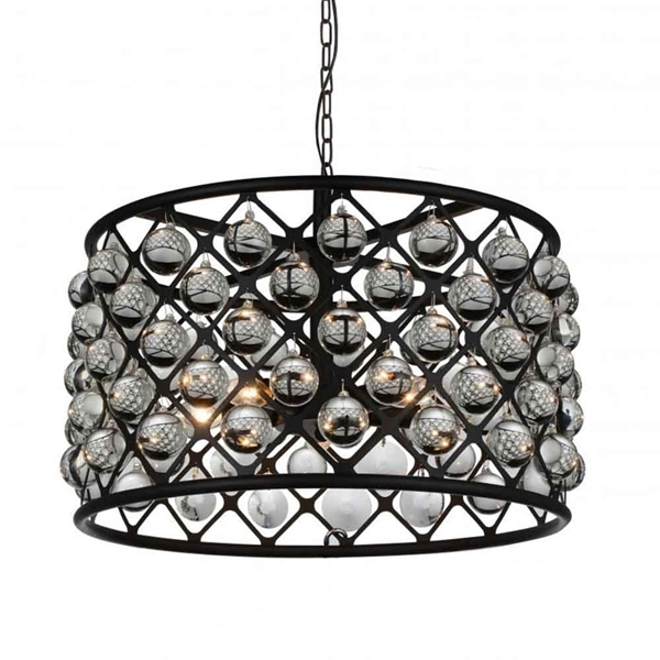 "Picture of 20"" 5 Light  Chandelier with Black finish"