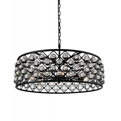 "20"" 5 Light  Chandelier with Black finish"