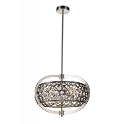 "20"" 5 Light  Chandelier with Satin Nickel finish"