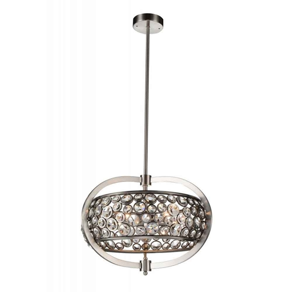"""Picture of 20"""" 5 Light  Chandelier with Satin Nickel finish"""