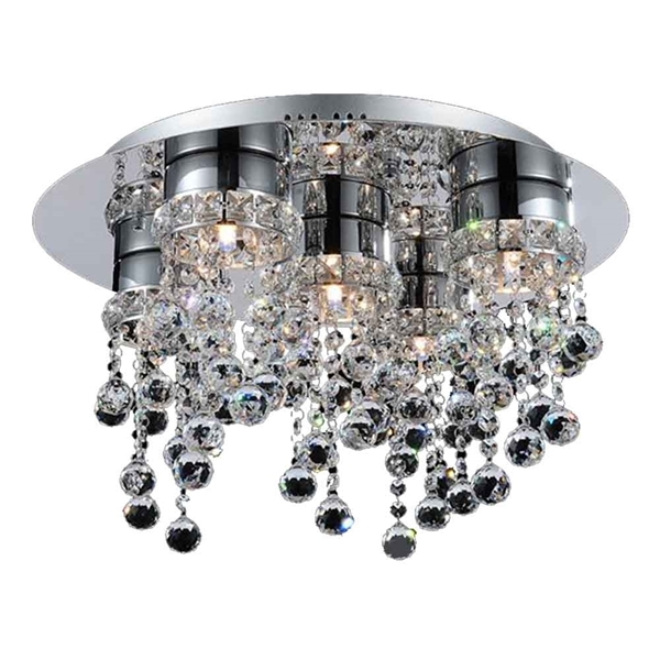 """Picture of 20"""" 5 Light  Flush Mount with Chrome finish"""