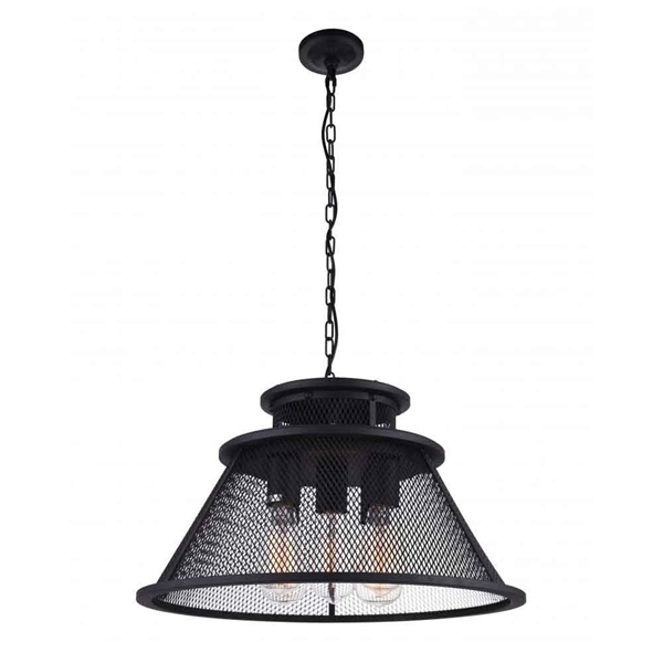 "Picture of 20"" 5 Light Down Chandelier with Reddish Black finish"