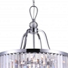 """Picture of 20"""" 5 Light Drum Shade Chandelier with Chrome finish"""