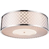 "Picture of 20"" 5 Light Drum Shade Flush Mount with Chrome finish"