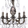 """Picture of 20"""" 5 Light Up Chandelier with Antique Brass finish"""