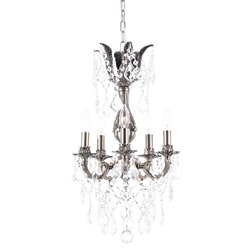 """20"""" 5 Light Up Chandelier with French Gold finish"""
