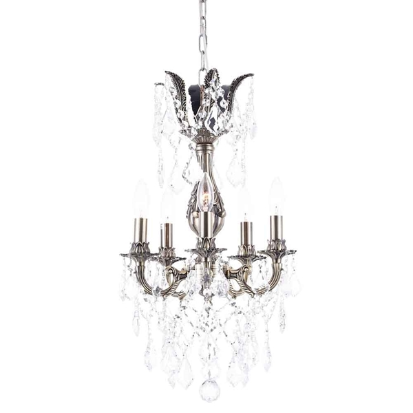 "Picture of 20"" 5 Light Up Chandelier with French Gold finish"