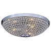 "Picture of 20"" 6 Light Bowl Flush Mount with Chrome finish"