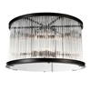 "Picture of 20"" 6 Light Cage Flush Mount with Black finish"