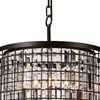 "Picture of 20"" 6 Light Up Chandelier with Brown finish"