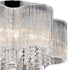 "Picture of 20"" 7 Light Down Chandelier with Chrome finish"