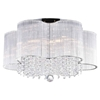 """Picture of 20"""" 7 Light Drum Shade Flush Mount with Chrome finish"""