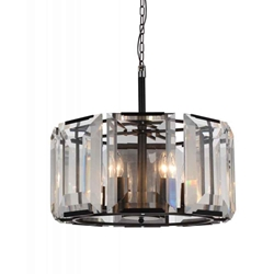 """20"""" 8 Light  Chandelier with Black finish"""