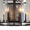 """Picture of 20"""" 8 Light  Chandelier with Black finish"""