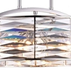 """Picture of 20"""" 8 Light Down Chandelier with Bright Nickel finish"""