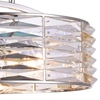 "Picture of 20"" 8 Light Down Chandelier with Bright Nickel finish"