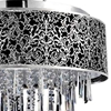 "Picture of 20"" 8 Light Drum Shade Chandelier with Satin Nickel finish"