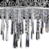 """Picture of 20"""" 8 Light Drum Shade Chandelier with Satin Nickel finish"""