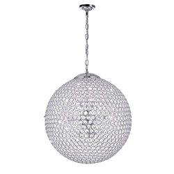 """20"""" 9 Light  Chandelier with Chrome finish"""