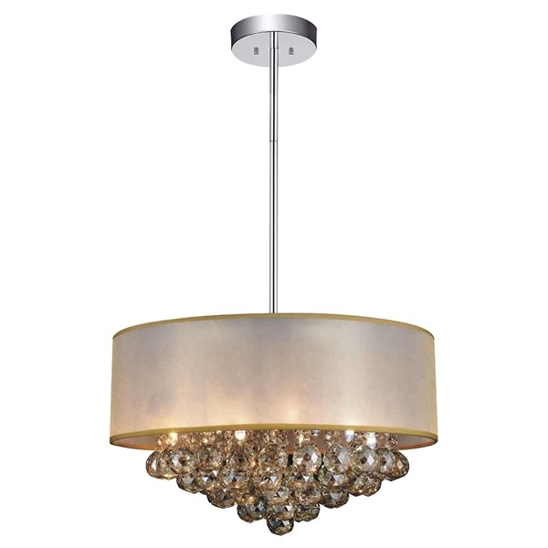 """Picture of 20"""" 9 Light Drum Shade Chandelier with Chrome finish"""