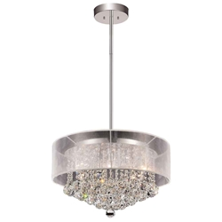 """20"""" 9 Light Drum Shade Chandelier with Chrome finish"""