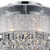 """Picture of 20"""" 9 Light Drum Shade Flush Mount with Chrome finish"""