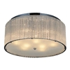 "Picture of 20"" 9 Light Drum Shade Flush Mount with Chrome finish"