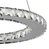 "Picture of 20"" Anelli Modern Crystal Round Single Ring Chandelier Polished Chrome 18 LED Lights"