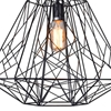 """Picture of 20"""" Bird Cage Contemporary Black Iron Large Pendant 1 Light"""