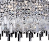 """Picture of 20"""" Bossolo Transitional Crystal Round Pendant Chandelier Polished Chrome 8 Lights"""