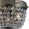 "Picture of 20"" Caro Traditional Crystal Round Semi-Flush Mount Ceiling Lamp Antique Brass 3 Lights"