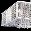"""Picture of 20"""" Cristallo Modern Crystal Square Pendant Chandelier Polished Chrome12 Lights"""