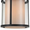 """Picture of 20"""" Lantern Contemporary Rubbed Brown Iron Oversized Round Pendnat 1 Light"""