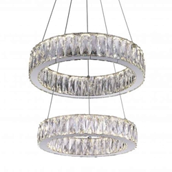 """20"""" LED  Chandelier with Chrome finish"""