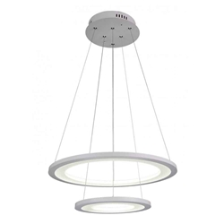 """20"""" LED  Chandelier with White finish"""